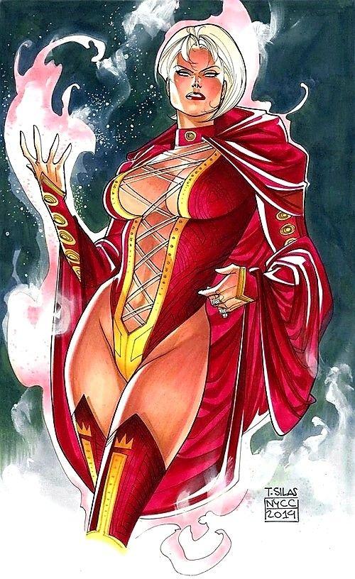 Pinup della Principessa Projectra nel suo costume classico