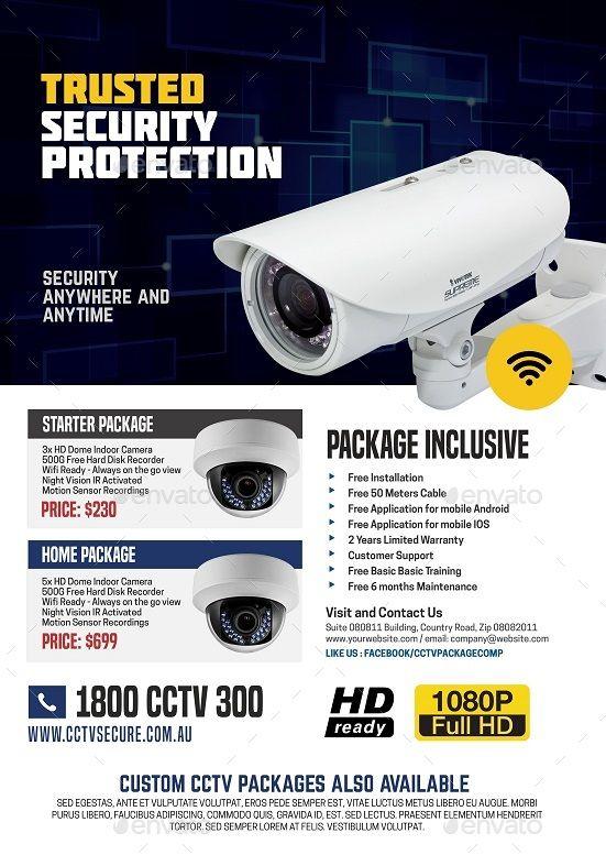 Cctv Camera Advertisement Pamphlet