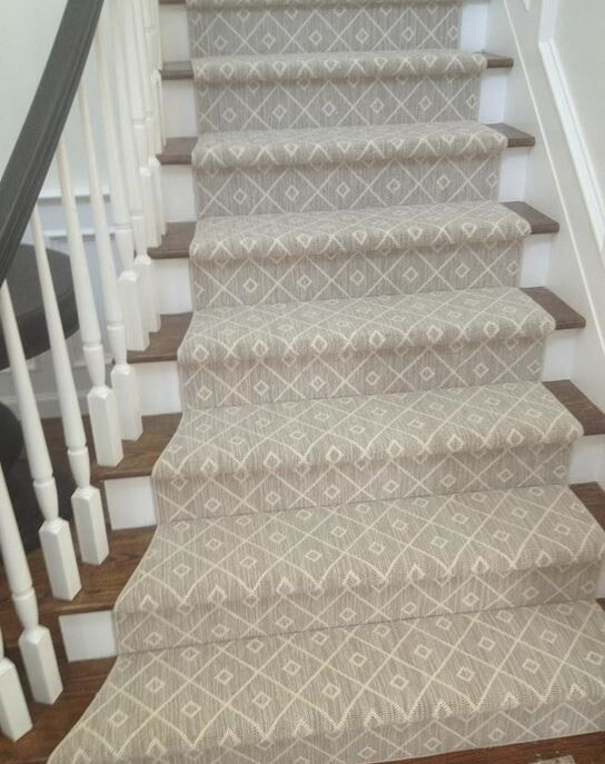 Who Doesn T Love Diamonds This Grey Diamond Patterned Runner | Grey Patterned Stair Carpet | Teal | Black | Farmhouse Style | Stair Landing | Wall