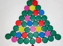 Image result for alberi di natale con materiale di riciclo
