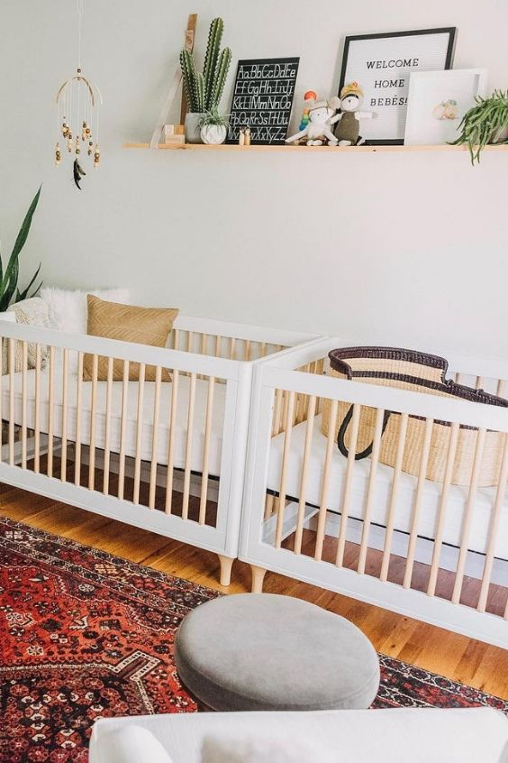 The Ultimate Guide To Designing A Twin Nursery Nursery Twins Twin Babies Nursery Modern Twin Nursery