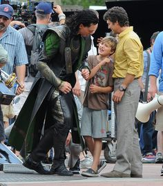 What a great story about how Mark Ruffalo's 10 yr old son was Tom Hiddlestons inspiration to play Loki