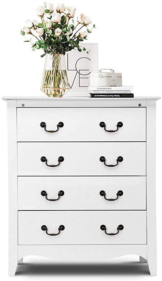 Classic Furniture White 4 Drawers Chest Dresser Organizer Storage Cabinet Bedroom Compact Convenient Home L In 2020 Classic Furniture Home Living Room Storage Cabinet #storage #dresser #for #living #room