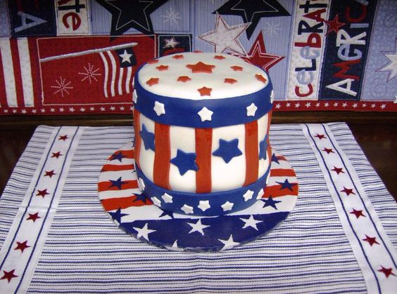 Adorable hat 4th of July Cake
