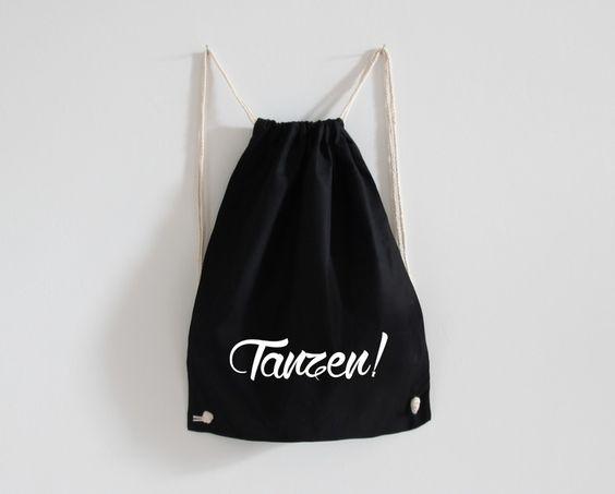 Turnbeutel+/+tanzen+/+schwarz+von+Eulenschnitt+auf+DaWanda.com