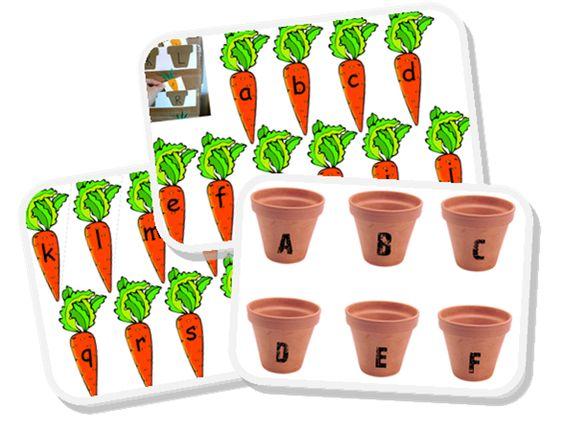 Alphabet carottes and pots on pinterest - Pot en 3 lettres ...