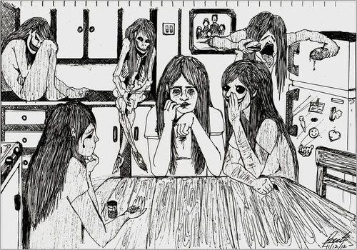 Výsledek obrázku pro anorexia bulimia depression