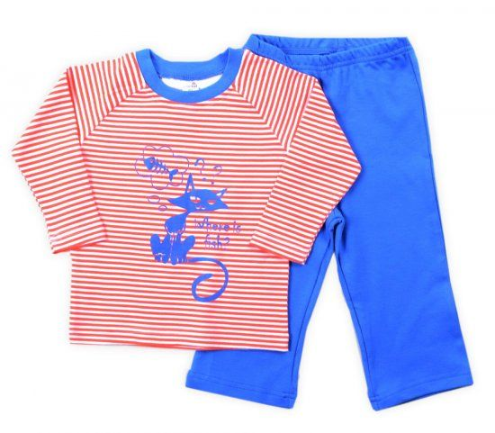 kids pajamas pink-blue