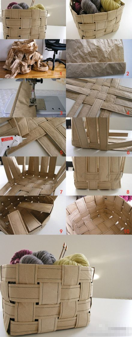 Something else to make with that brown paper packing material (I usually use mine to make pattern pieces).: