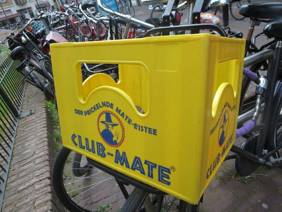 bike basket yellow with text