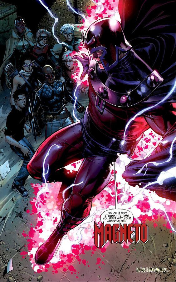 Znalezione obrazy dla zapytania magneto marvel comics