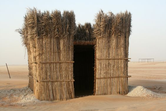 ARABIAN  Palm Leaf House, Arish, North Sinai. Photo by Sandra Piesik.: