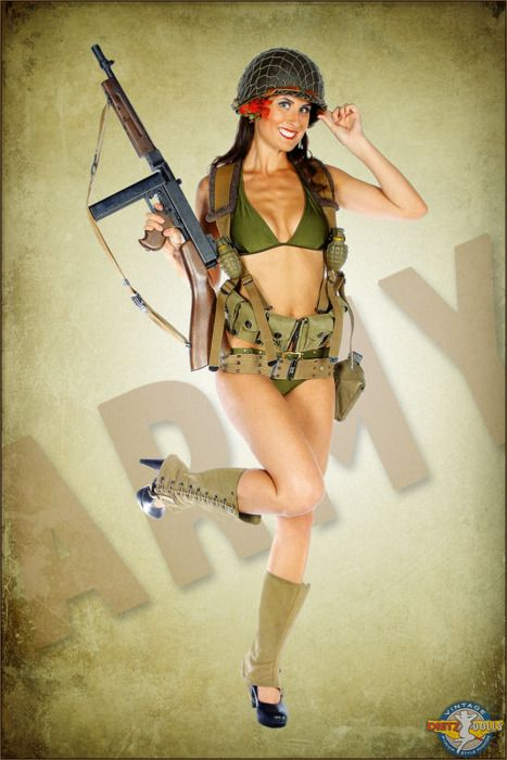 Irish Pin Up Girls Art | World War 2 US Army tribute PinupPhotographer: Britt Dietz...