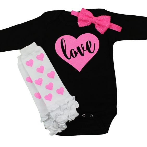 Valentines Day Onesies | Pink LOVE in Sparkly heart with bubblegum pink sequin bow Leg Warmers Set | Baby Girls Valentine's Day Outfit by OliveLovesApple on Etsy https://www.etsy.com/listing/261796133/valentines-day-onesies-pink-love-in: