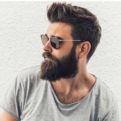 Cool Stacheligen Haaren Und Bart Haarschnitt Manner Herren Frisuren Mit Bart Haare Manner