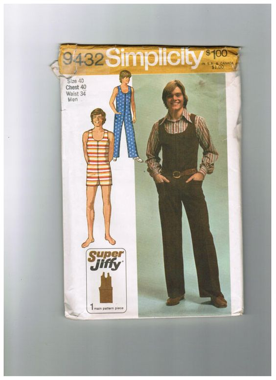 RARE VINTAGE Simplicity 9432 Teen Boy's and by NanaSuesSewingroom, $15.00
