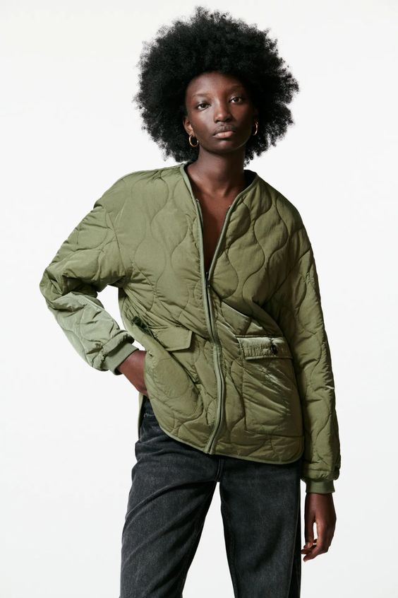 Reversible quilted jacket Zara