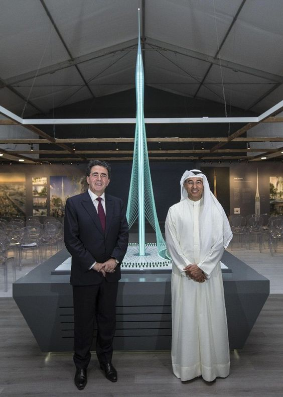 Santiago Calatrava on the left and the president of Emaar Property