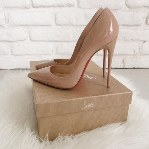 Red bottom tan heels | Stunning shoes