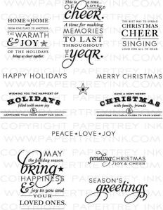 Stylish Sentiments: Holiday Stamp Set $24 PTI