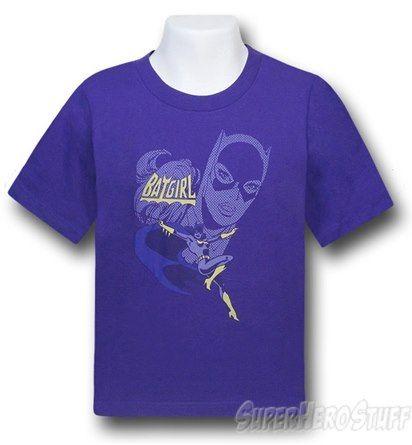 Images of Batgirl Leap Purple Kids T-Shirt
