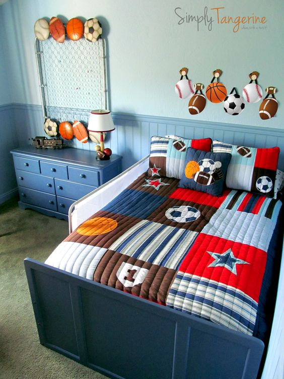 All Star Sports Themed Room Kid Stuff Pinterest Artworks Furniture And Love The