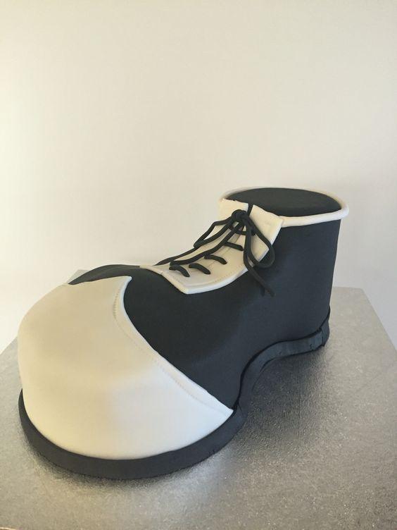 Tarta zapato payaso