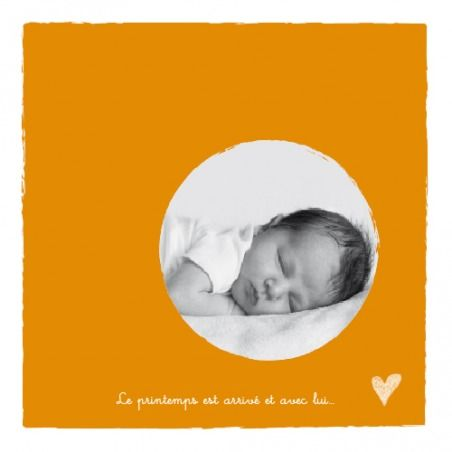 petits coeurs 4 pages by Tomoë pour www.fairepartnaissance.fr #rosemood #atelierrosemood #birth #announcement #orange