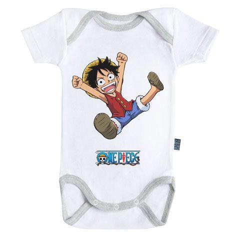 Licence Officielle Luffy Body B/éb/é Manches Courtes Parent Baby Geek Futur Pirate One Piece /™