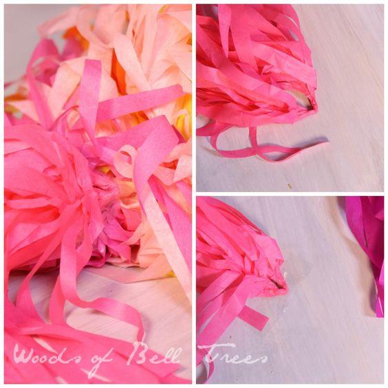 borlas do partido em um tecido vara do ofício de papel feito à mão festa festival fiesta