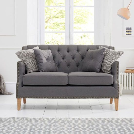 Kosmo 2 Seater Sofa In Grey Fabric With Natural Ash Legs Living Room Furniture Sale Living Room Sets Furniture Luxury Sofa Modern