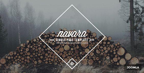 nice Navara - Joomla Single Page Template