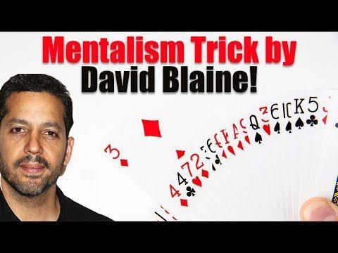 Insane David Blaine Mentalism Card Trick Magic Tricks Revealed Youtube Card Tricks Magic Tricks Revealed Learn Magic