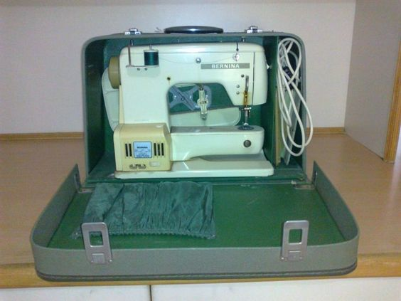 Free-arm Bernina in a case.