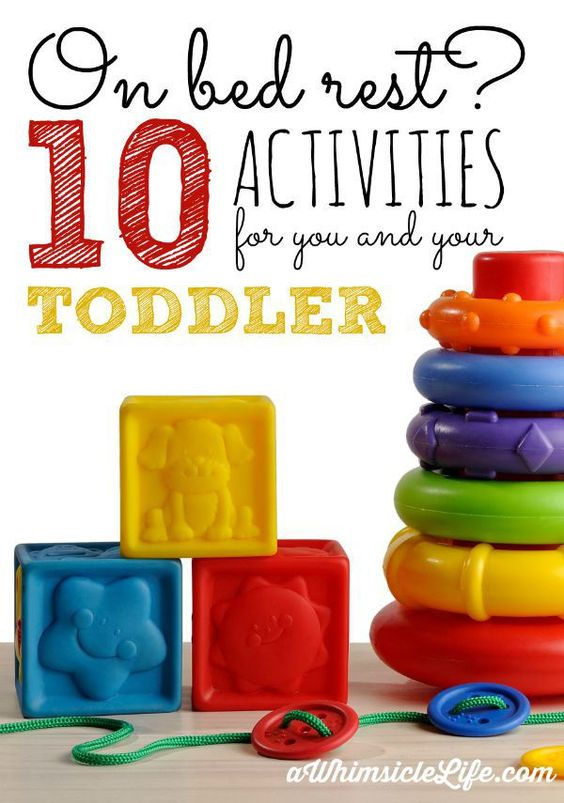 Such great and easy activities that you can do with a toddler when you can't exert yourself.  These ideas will keep both you and your kid happy!