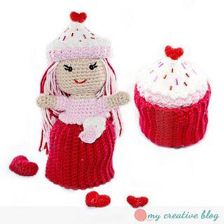 Crochet Cupcake Doll Pattern : Valentines Crochet Cupcake Doll Pattern on Ravelry # ...