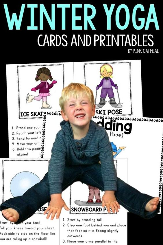 Winter themed kids yoga perfect for winter themed gross for Winter themed gross motor activities