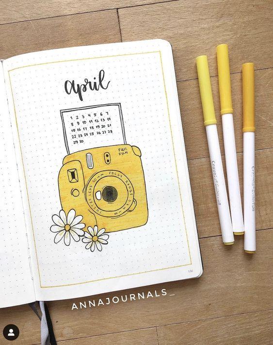 30 pages pour votre bujo d'avril