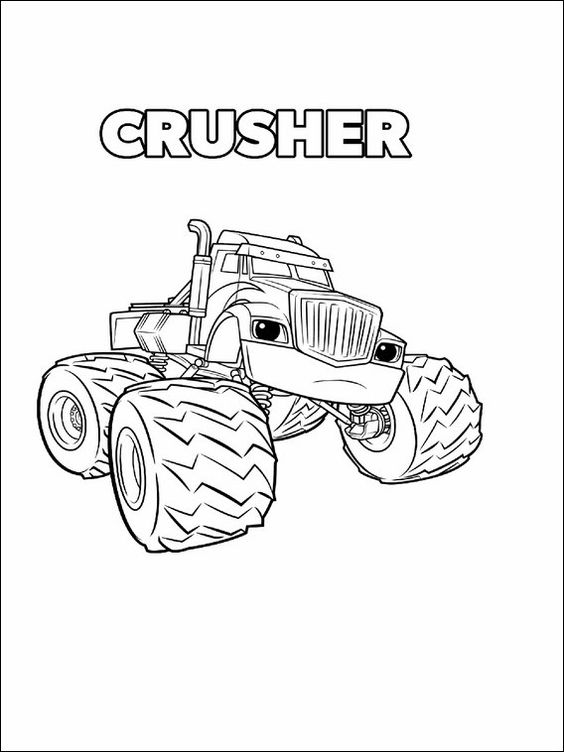 Blaze And The Monster Machines Coloring Pages 11 Monster Truck Coloring Pages Truck Coloring Pages Paw Patrol Coloring Pages