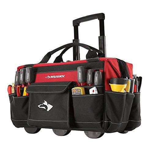 Wheeled Tool Bag with Wheels Tool Hard Case Organiser Luggage Carrier Toolbag