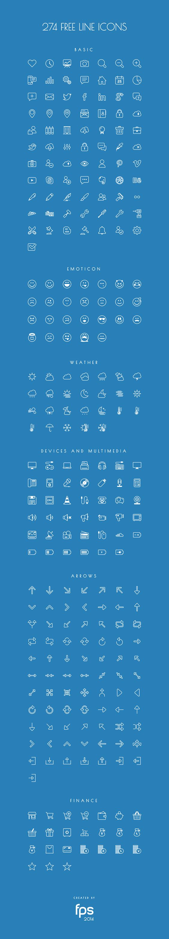274 Vector Line Icons for free on Behance