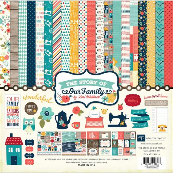 Echo Park The Story Of Our Family - Collection Kit 12x12inch