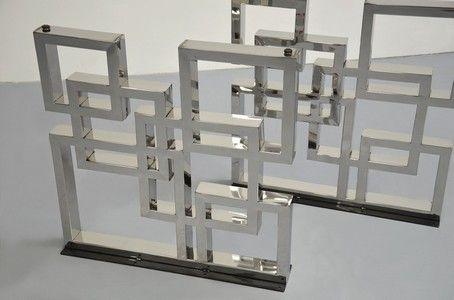 Stahl Gestell aus Chrom 2er Set