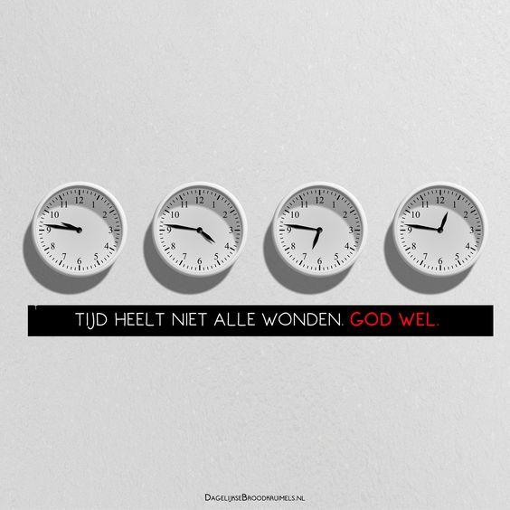 Tijd heelt niet alle wonden. GOD wel.  #God, #Tijd  https://www.dagelijksebroodkruimels.nl/tijd-heelt-niet-alle-wonden/