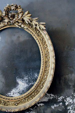 La-madone French antique mirror