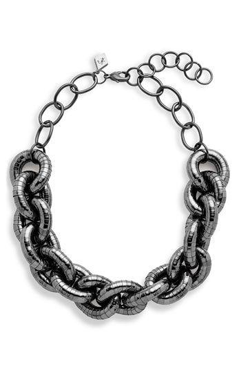 Sequin Textured Status Link Necklace   Nordstrom - StyleSays