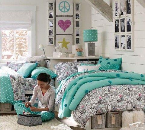 Ideas para habitaciones de adolescentes ni as en verde - Decorar habitacion chica ...