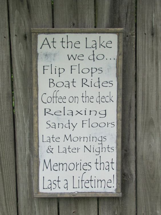 Hey, I found this really awesome Etsy listing at https://www.etsy.com/listing/194589724/at-the-lake-wood-sign-lake-rules-wooden
