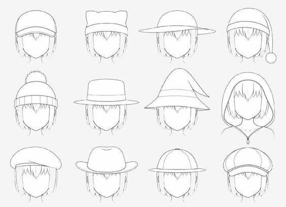 Hướng dẫn vẽ đầu và mũ siêu đẹp trong Anime