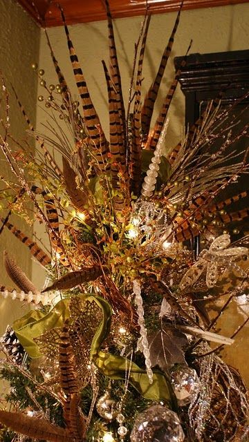Pheasant Feather Tree Topper Holiday Inspiration